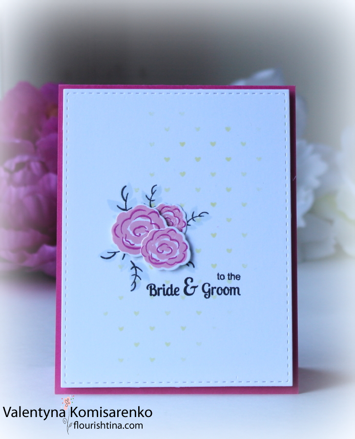 SSS Tiny Spaced Hearts, SSS Lemon Chiffon, Cotton Candy, Doll Pink Inks, Clearly Besotted Bridal Bouquet Stamp & Die set