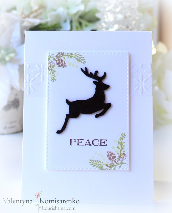 Reindeer Silhouette, HLS Mixed Christmas sentiment