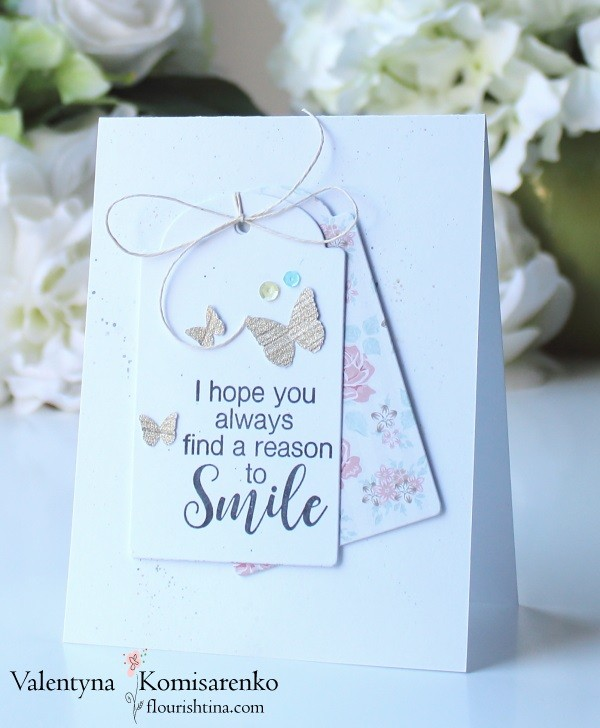 Girly Sweet card with Butterflies