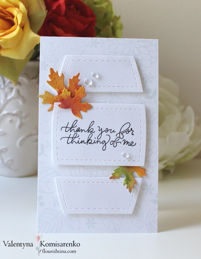 SSS Handwritten sentiment stamp set, SSS Maple leaves Trio, Studio Katia Stitched Creative Window