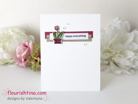 Perfectly CAS Flower Card, Flourishtina