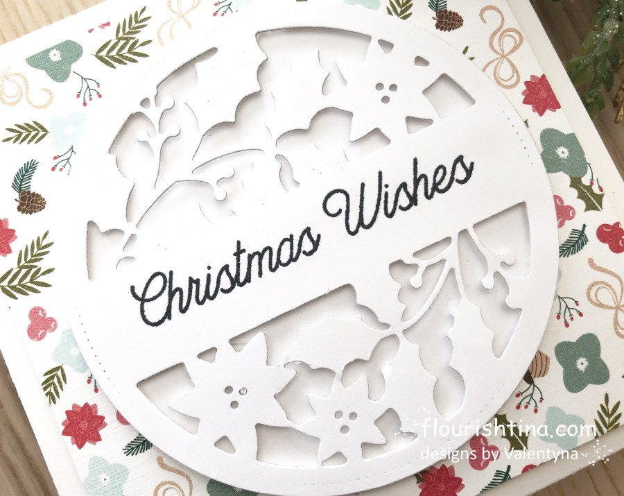 Christmas Wishes Intricate Die-cut Card, Flourishtina