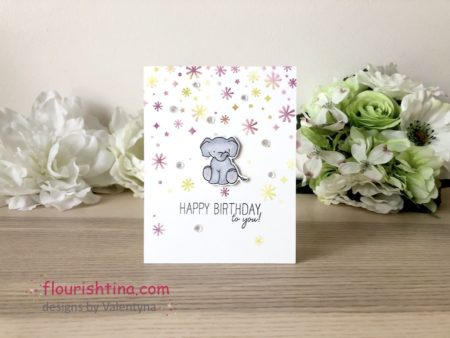 Confetti Stenciling Birthday Card