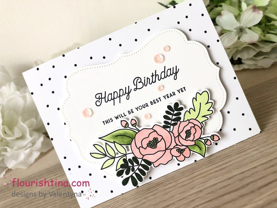 Confetti Background Birthday Card, Flourishtina.com