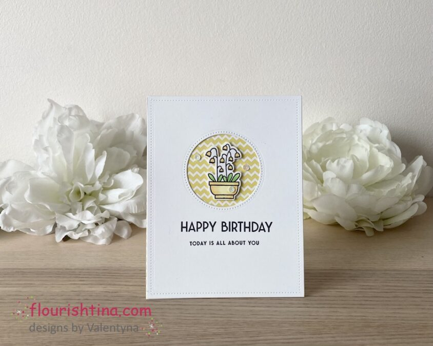 Two-colour Birthday Card